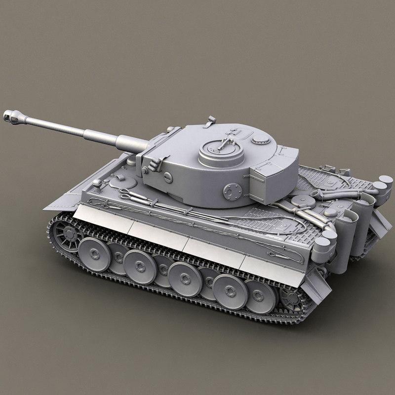 3dsmax german tank tiger