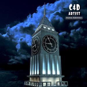 3d max clock tower