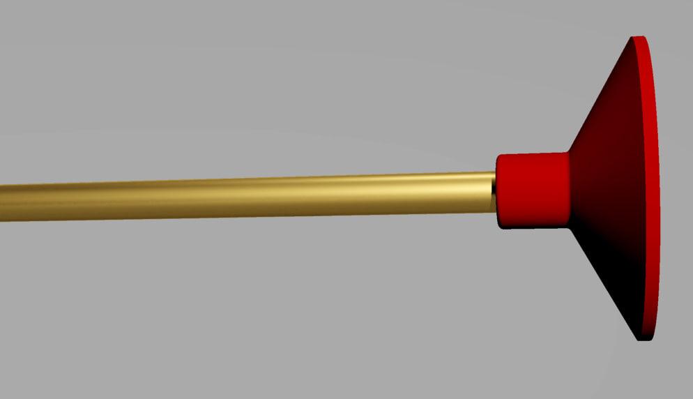 rubber arrow 3d model