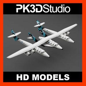 3d model virgin spaceshiptwo