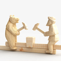 3d model wooden toy wood