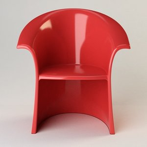 vignelli chair design 3d 3ds