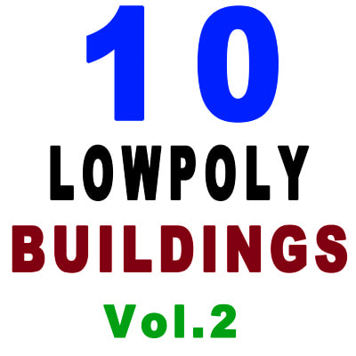 3d 10 buildings model