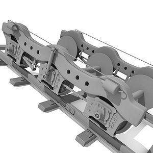 train wheels 3d 3ds