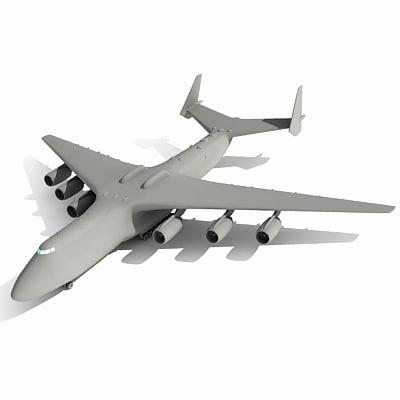 3d model of antonov an-225 mriya