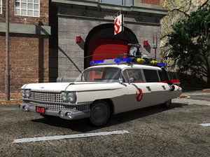 3d ghostbusters ecto 1 model