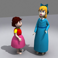 3d model cartoon characters heidi