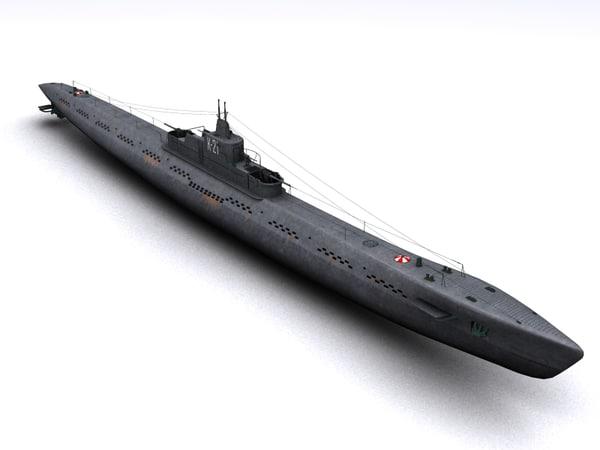 k-21 wwii soviet submarine 3d 3ds