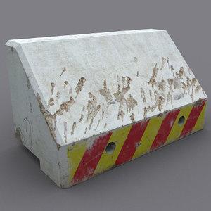 3ds max robust roadside concrete