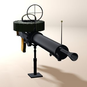 3d lewis gun machine model