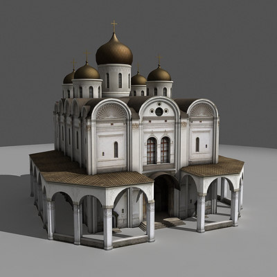 3dsmax arhangelskiy cathedral