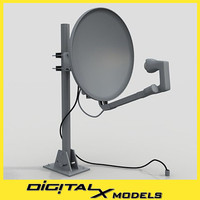 3d model satellite dish - small