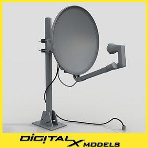 3d model satellite dish - small