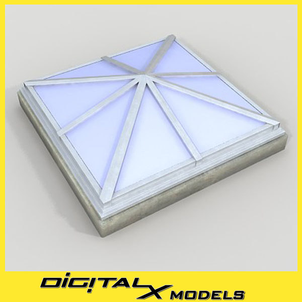 roof rooftop skylight 3d 3ds