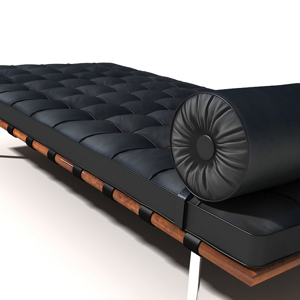 mies daybed barcelona 3d model
