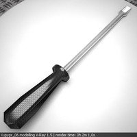 screwdriver screw 3d model
