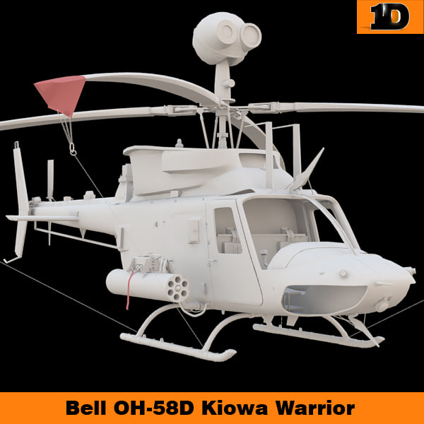 3d bell oh-58d kiowa warrior