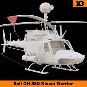 3d bell oh-58d kiowa warrior