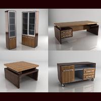 3d model felix diplomat office furniture