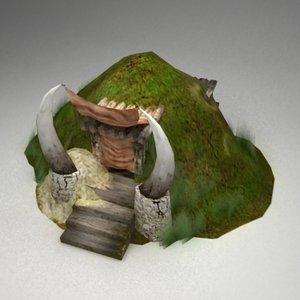 fantasy dugout 3d model