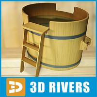 3d model japanese bath
