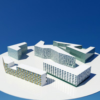 3d office living buildings