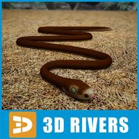 black mamba snakes 3d model