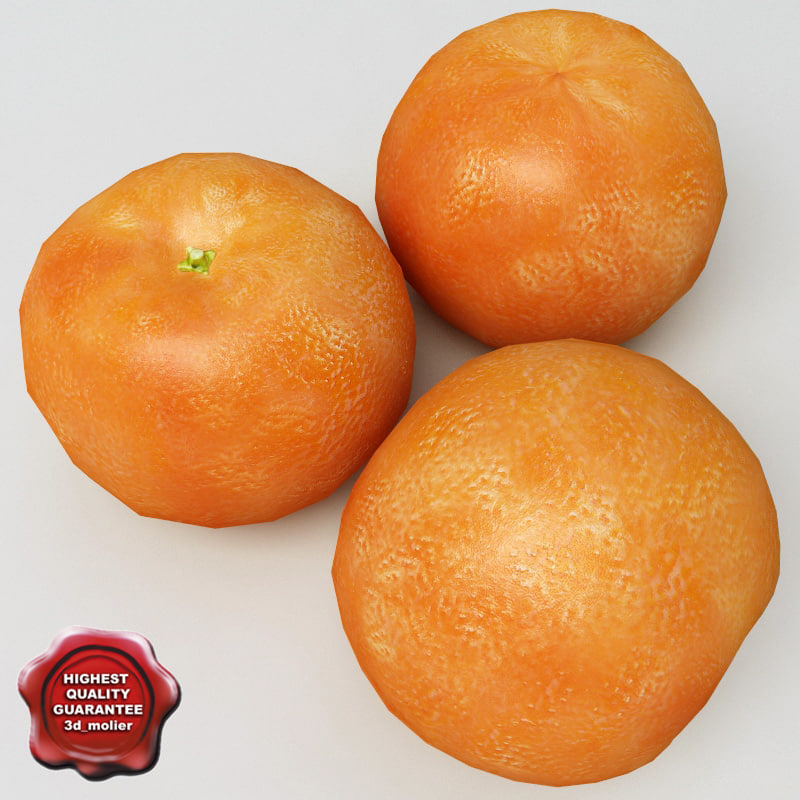 mandarine modelled 3d 3ds