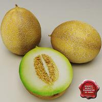 3d melons modelled model