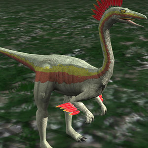 3d ornithomimus