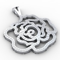 diamond rose pendant 3d model