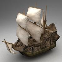 3d model of ship