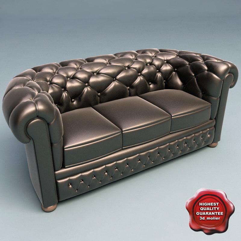 sofa slassic v4 3d 3ds