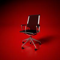 vitra meda designer chair 3ds