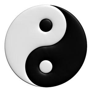 3d model yin yang symbol