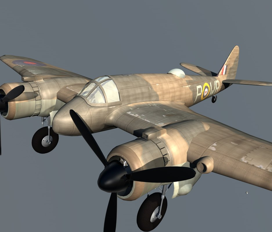 3d bristol beaufighter bomber