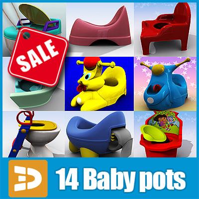 3d baby potties 3dr152