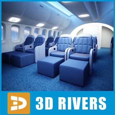 3d dreamliner class interior model
