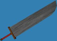 3d model sword cloud custom