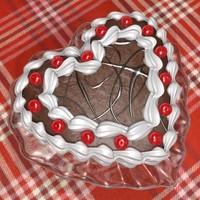 max san valentine chocolate cake
