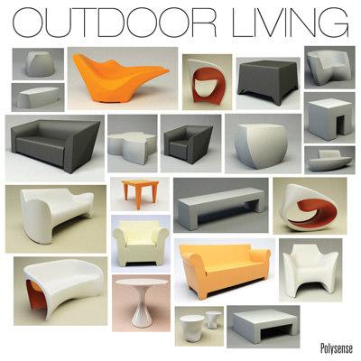 3d model living outdoor