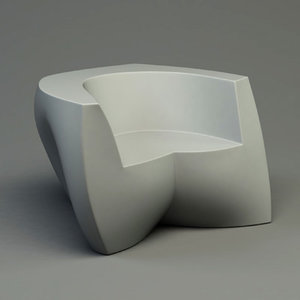3d frank gehry easy chair