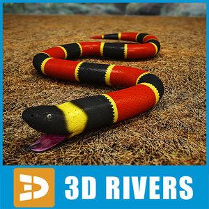 3d coral snake model