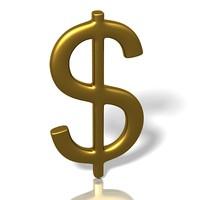 free dollar symbol 3d model