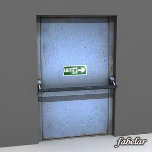 3d emergency exit door