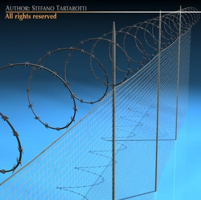 3dsmax fence barbed wire