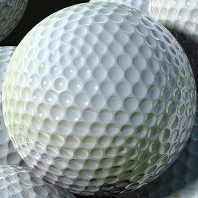 golf ball 3d obj