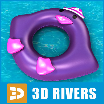 3d inflatable swim ring