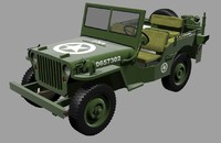 3d army jeep