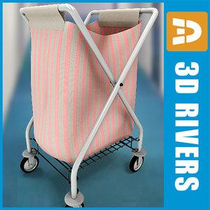 3d laundry cart